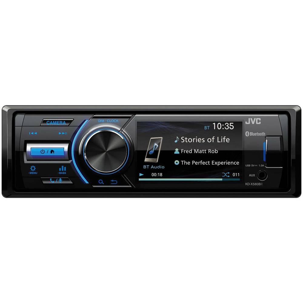JVC KD-X560BT Avtoradio Priključek za vzvratno kamero, Priključek za volanski daljinski upravljalnik, Bluetooth® komplet za
