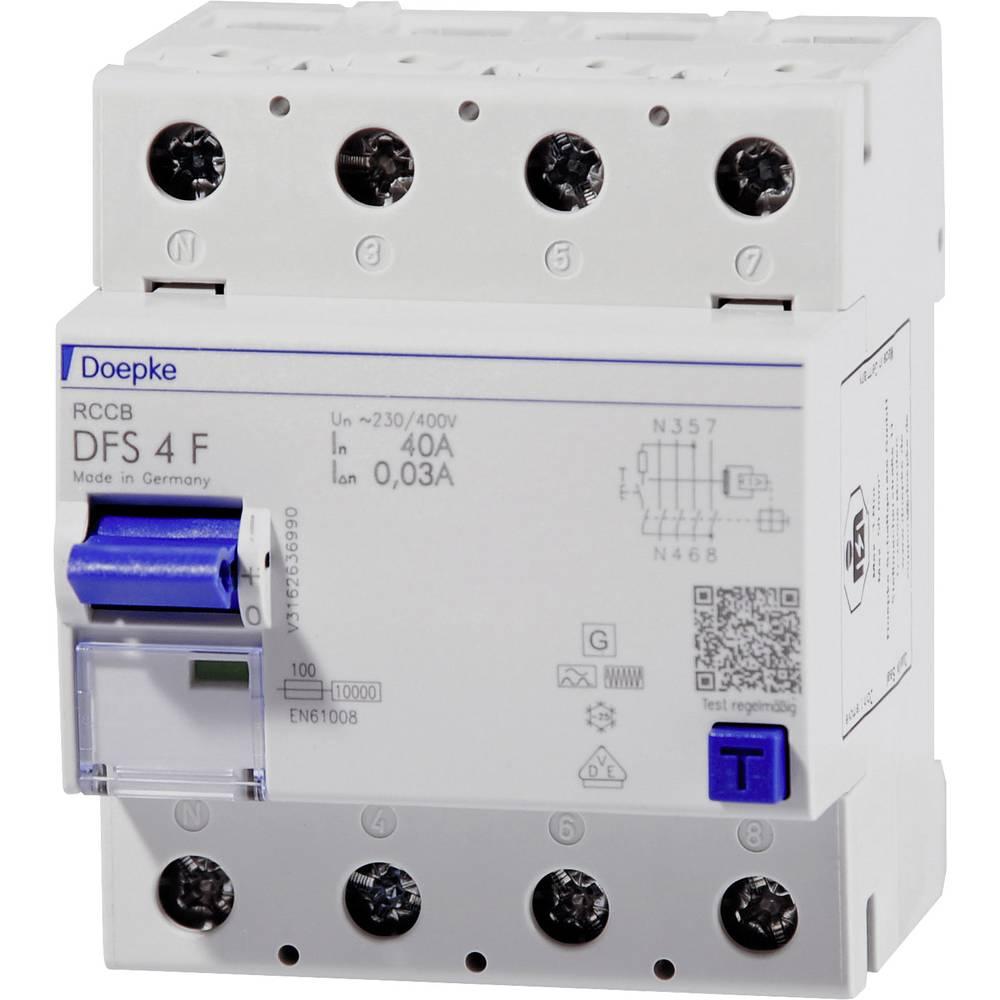 Doepke 09134820 Kvar struje-sigurnosni prekidač 4-polni 40 A 0.03 A 400 V