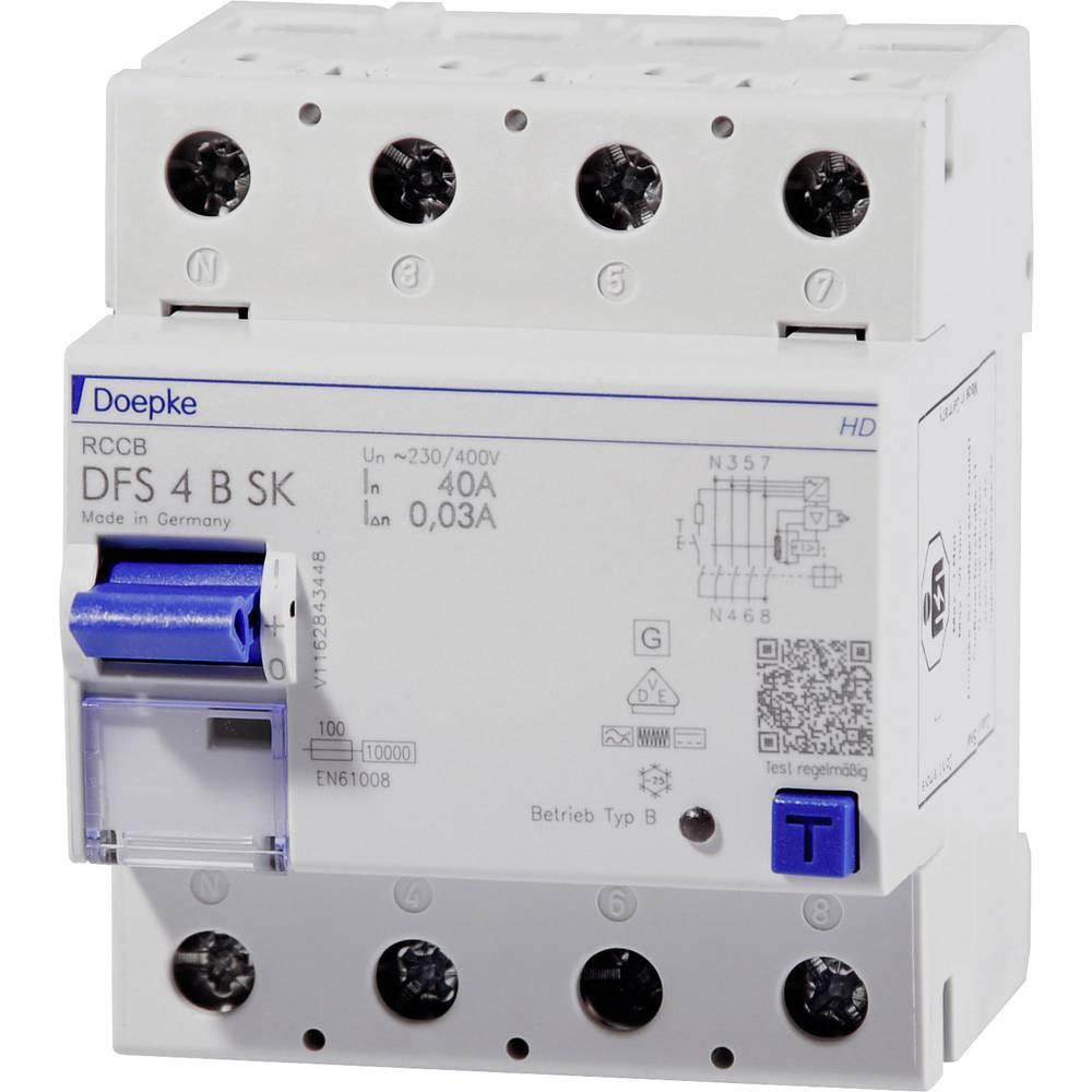 Doepke 09134998HD Kvar struje-sigurnosni prekidač 4-polni 80 A 0.5 A 400 V
