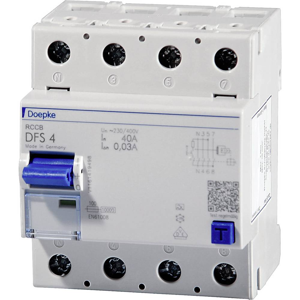 Doepke 09164901 Kvar struje-sigurnosni prekidač 4-polni 100 A 0.03 A 400 V