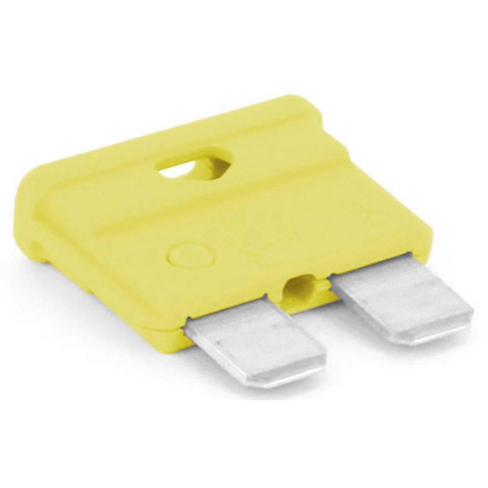 TRU COMPONENTS 8551208 standardna ploščata varovalka za avtomobil 20 A rumena 1 kos