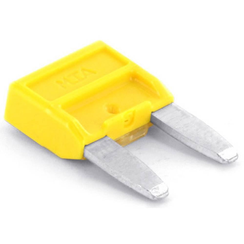 TRU COMPONENTS 8551268 mini ploščata varovalka za avtomobil 20 A rumena 1 kos
