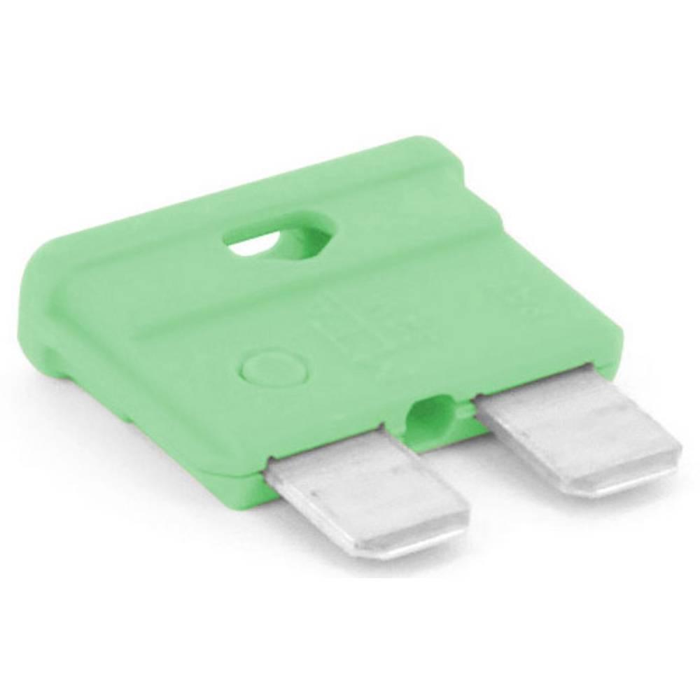 TRU COMPONENTS 8551288 Standardna ploščata varovalka za avtomobil 30 A Svetlo zelena 1 KOS