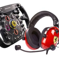 Thrustmaster Scuderia Ferrari Race Kit volan add-on USB PC, PlayStation 3, PlayStation 4, Xbox One črna, rdeča