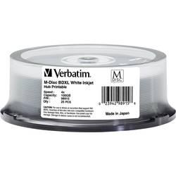 m disc blu-ray xl disk 100 GB Verbatim 98915 25 St. vreteno za tiskanje