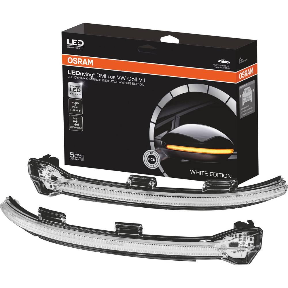 Smernik zunanjega vzvratnega ogledala, Utripalka LEDriving® Golf VII - White Edition N/A Osram Auto (D x Š x V) 35 x 30 x 27