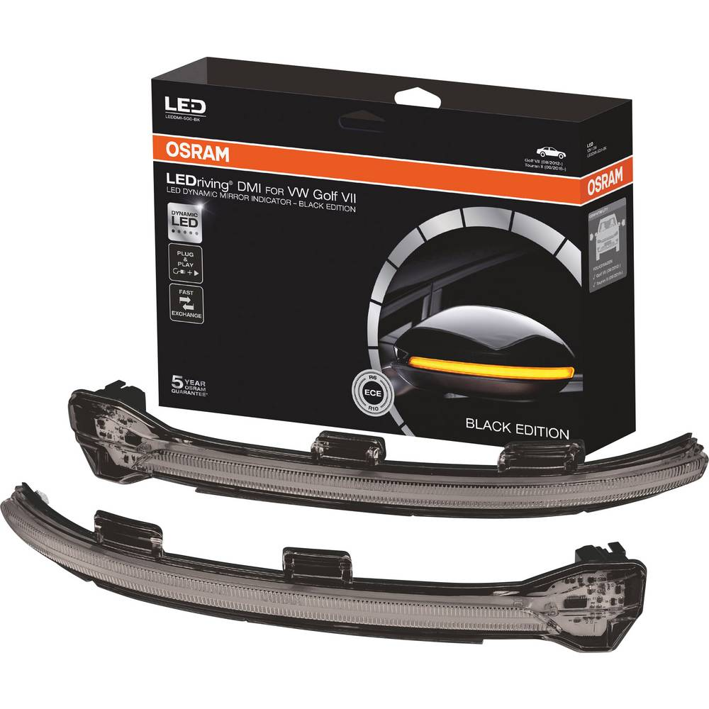 Smernik zunanjega vzvratnega ogledala, Utripalka LEDriving® Golf VII - Black Edition N/A Osram Auto (D x Š x V) 35 x 30 x 27