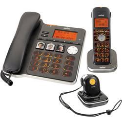 Switel D300 Vita Comfort vrvični telefon za starejše odzivnik, vključno z oddajnikom za klic v sili, vključno s slušalko, z osno