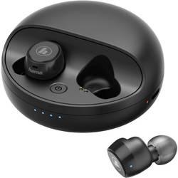 Hama Disc True Wireless In Ear slušalke In Ear Naglavni komplet, Kontrola glasnosti Črna