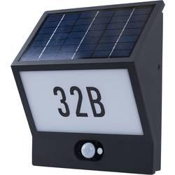 Heitronic Andrea 37150 Solarna svjetiljka s kućnim brojem i senzorom pokreta 3.3 W Toplo-bijela Crna