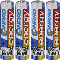 Conrad energy NH1100AAA Micro (AAA)-Akumulator NiMH 1100 mAh 1.2 V 4 KOS