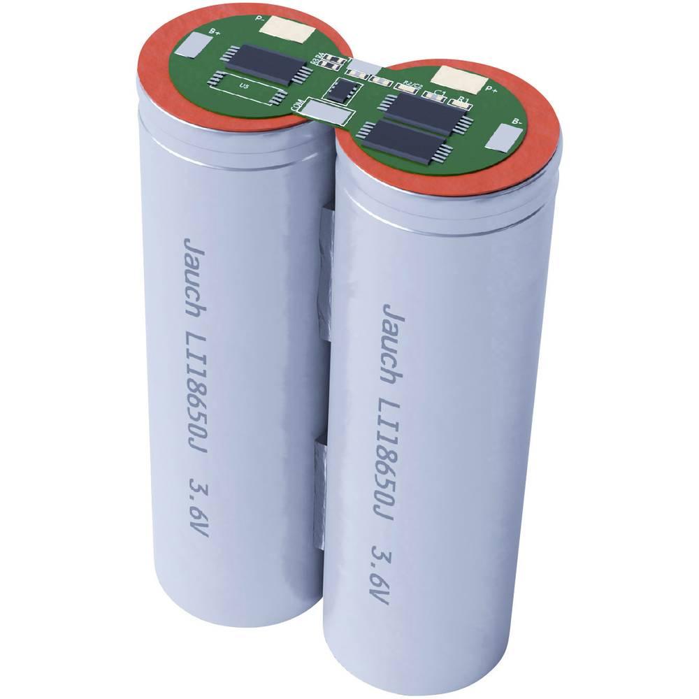 aku paket 2x18650 kabel li-ion Jauch Quartz 2S1P LI-NCR18650BF 7.2 V 3350 mAh