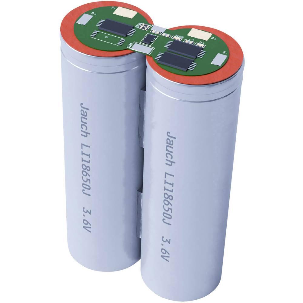 Aku paket 2x18650 Kabel Li-Ion Jauch Quartz 1S2P LI-NCR18650BF 3.6 V 6700 mAh