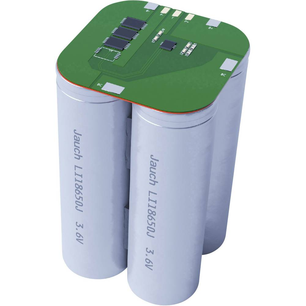 aku paket 4x18650 kabel li-ion Jauch Quartz 2S2P LI-NCR18650BF 7.2 V 6700 mAh