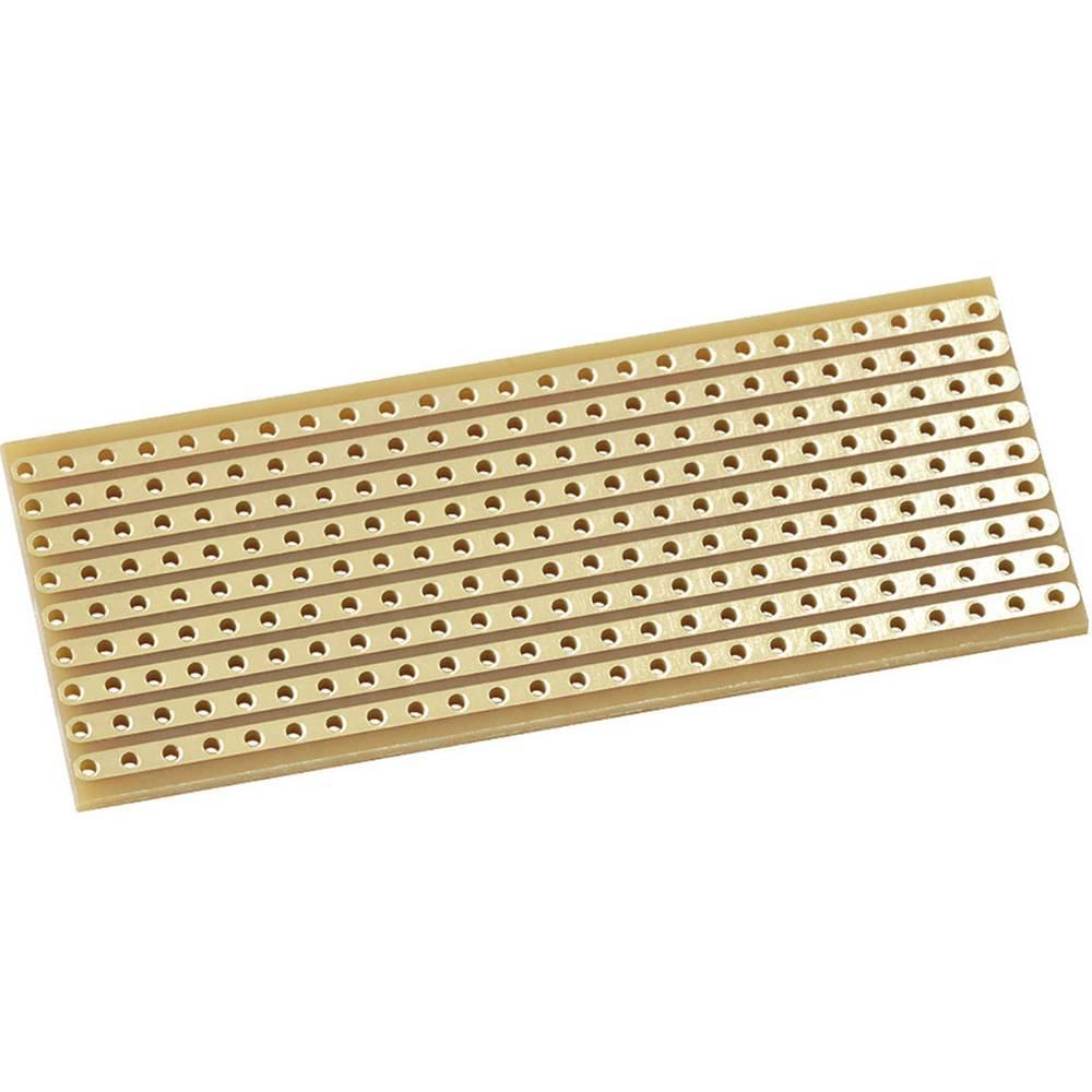 Kemo E015 Eksperimentalna plošča pozlačena bliskavica Trdi papir (D x Š) 64 mm x 25 mm 35 µm Osnovna mreža 2.54 mm Vsebina