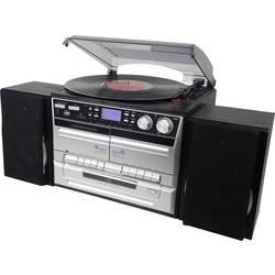 Denver MRD-165 stereo naprava aux, cd, DAB+, kaseta, gramofon, UKW, sd, USB.funkcija snemanja 2 x 2 W srebrna