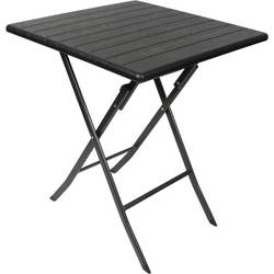 miza za kampiranje Perel folding table wood črna FP62W