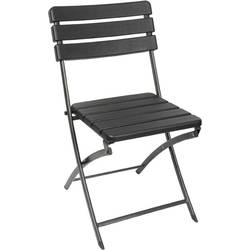 stol za kampiranje Perel folding chair wood črna FP165W