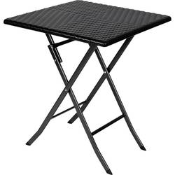 miza za kampiranje Perel folding table rattan črna FP62R