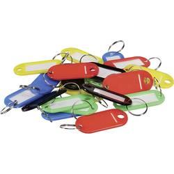 Perel obesek za ključe BG81001 smal črna, rdeča, modra, zelena, rumena 20 kos
