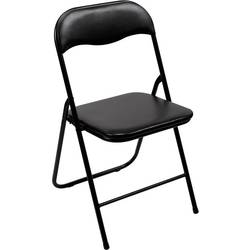 stol za kampiranje Perel folding chair padded črna FP168B