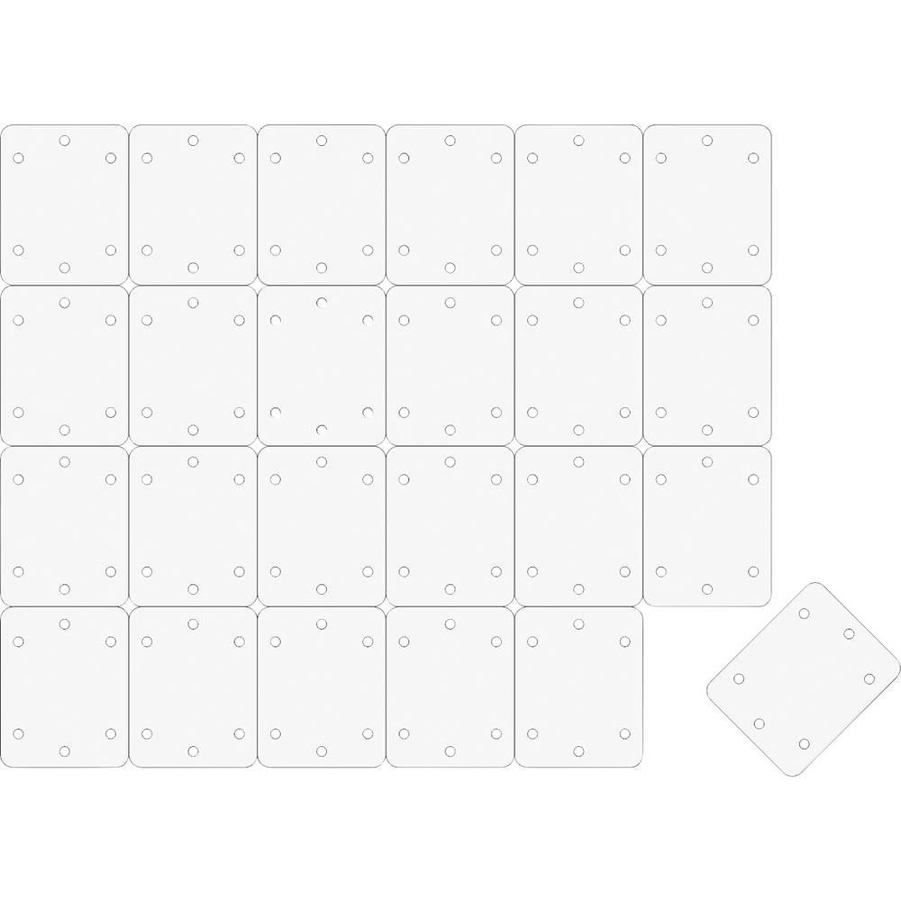 Šarnirska ploščica Pravokotni Vlaknasto blago EXTRON Modellbau (D x Š) 25 mm x 20 mm 24 KOS