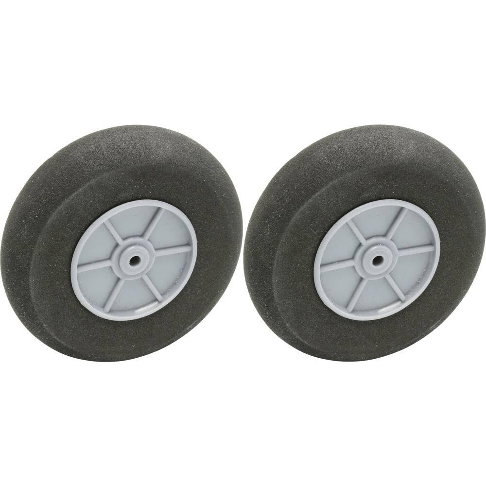 Pnevmatike iz penaste gume za model zračnega plovila s plastičnim platiščem EXTRON Modellbau 75 mm 2 KOS