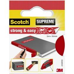 3M Strong & Easy 4105R19 Lepilni trak iz tkanine Scotch® Rdeča (D x Š) 3 m x 19 mm 3 m