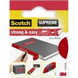 3M Strong & Easy 4105R38 Lepilni trak iz tkanine Scotch® Rdeča (D x Š) 3 m x 38 mm 3 m