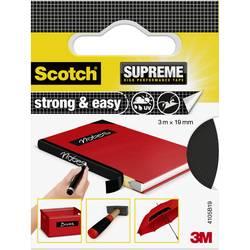 3M Strong & Easy 4105B19 Lepilni trak iz tkanine Scotch® Črna (D x Š) 3 m x 19 mm 3 m