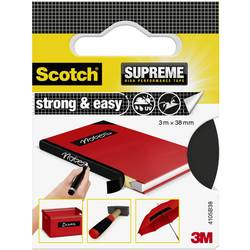 3M Strong & Easy 4105B38 Lepilni trak iz tkanine Scotch® Črna (D x Š) 3 m x 38 mm 3 m