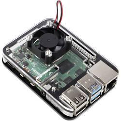 MAKERFACTORY sbc kućište Pogodno za: Raspberry Pi uklj. aktivni hladnjak crna, prozirna