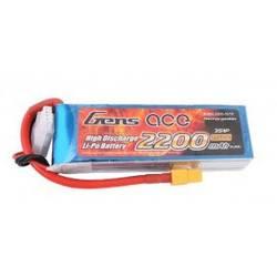 Gens ace LiPo akumulatorski paket za modele 11.1 V 2200 mAh Število celic: 3 25 C Mehka torba XT60