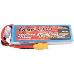 Gens ace LiPo akumulatorski paket za modele 11.1 V 4000 mAh Število celic: 3 25 C Mehka torba XT90