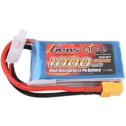 Gens ace LiPo akumulatorski paket za modele 11.1 V 1000 mAh Število celic: 3 25 C Mehka torba XT60