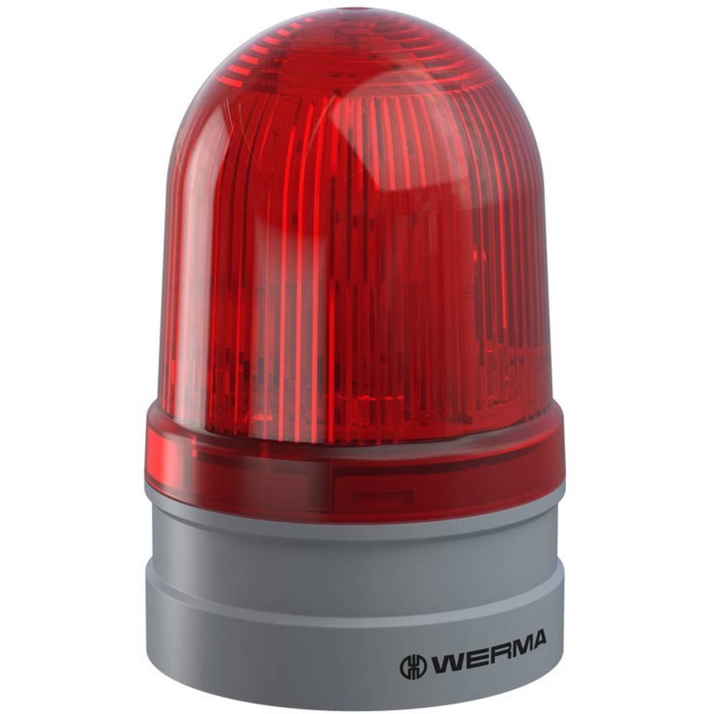 Werma Signaltechnik signalna svjetiljka Midi TwinFLASH 12/24VAC/DC RD crvena 12 V/DC