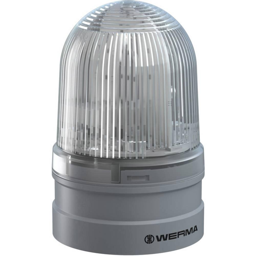 Werma Signaltechnik signalna svjetiljka Midi TwinFLASH 12/24VAC/DC CL bistra 12 V/DC