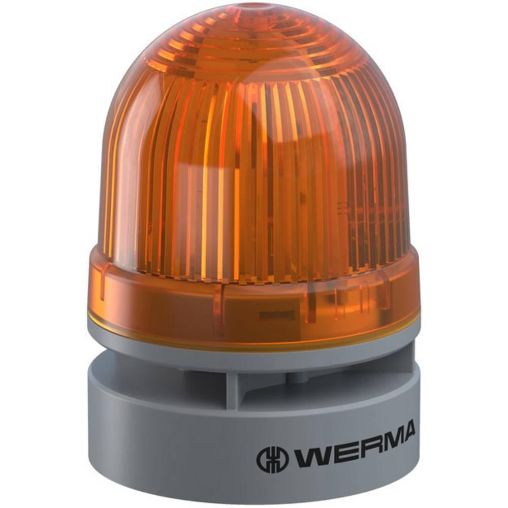 Werma Signaltechnik signalna svjetiljka Mini TwinFLASH Combi 12VAC/DC YE žuta 12 V/DC 95 dB