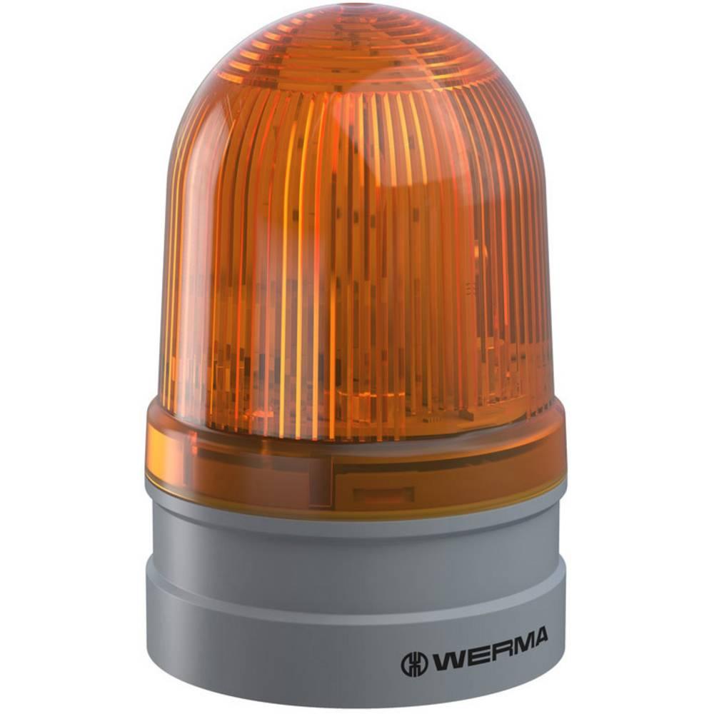 Werma Signaltechnik signalna svjetiljka Midi TwinFLASH 12/24VAC/DC YE žuta 12 V/DC