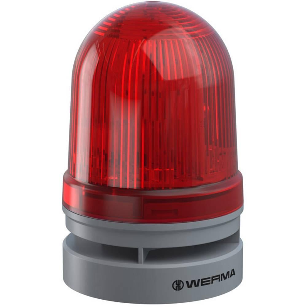 Werma Signaltechnik signalna svjetiljka Midi TwinFLASH Combi 115-230VAC RD crvena 230 V/AC 110 dB