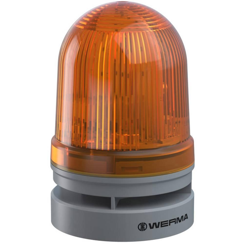 Werma Signaltechnik signalna svjetiljka Midi TwinFLASH Combi 12/24VAC/DC YE žuta 12 V/DC 110 dB