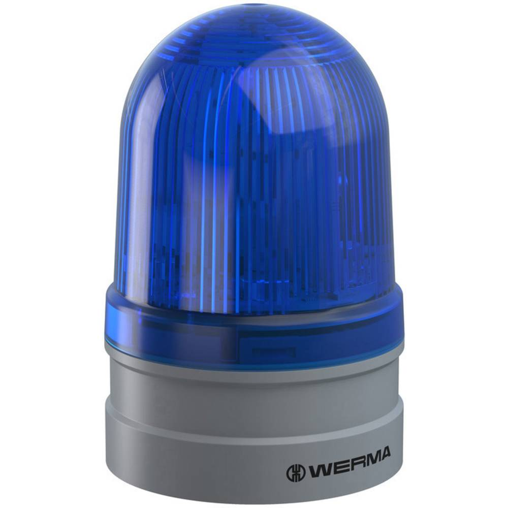 Werma Signaltechnik signalna svjetiljka Midi Rotating 12/24V AC/DC BU plava boja 12 V/DC