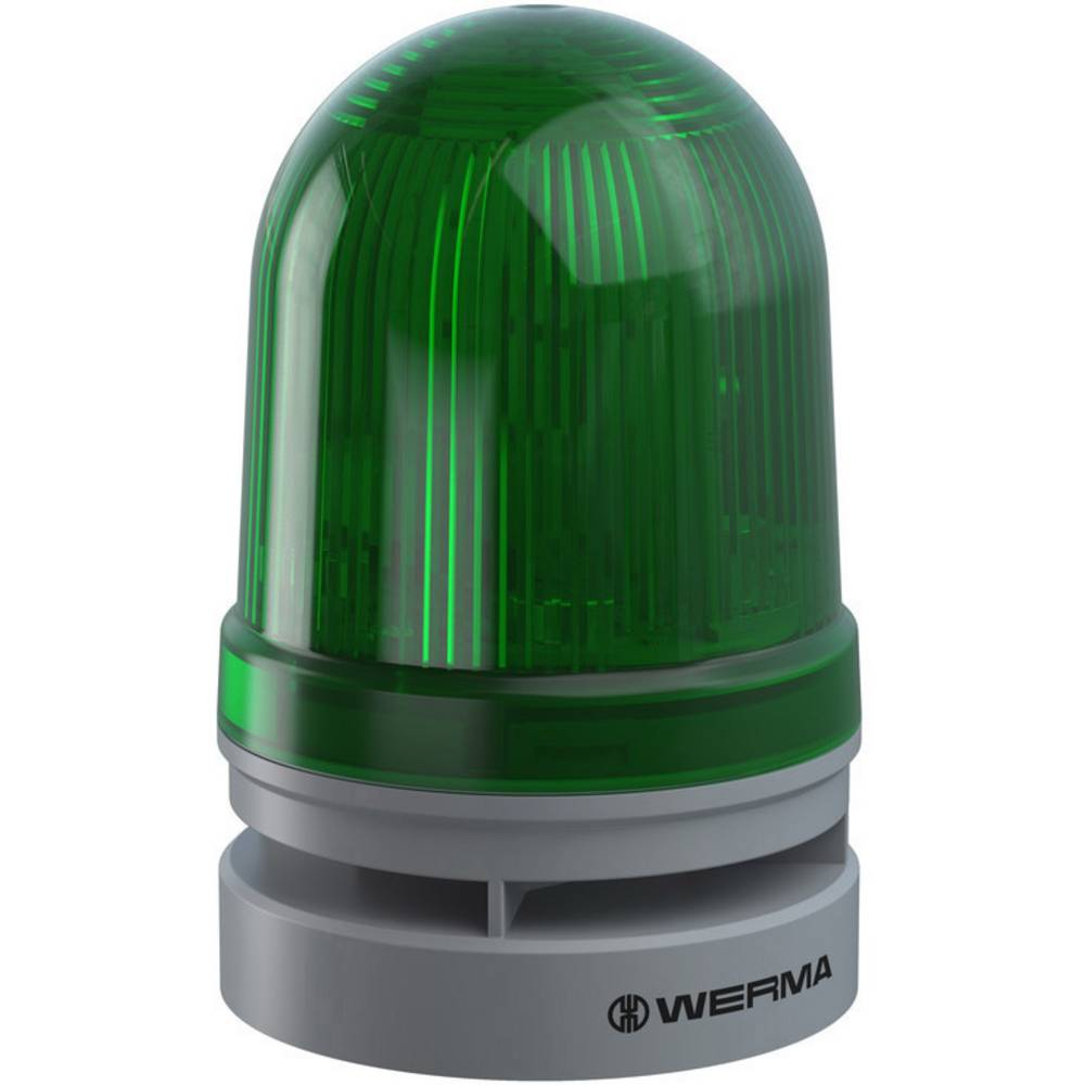 Werma Signaltechnik signalna svjetiljka Midi TwinFLASH Combi 12/24VAC/DC GN zelena 12 V/DC 110 dB