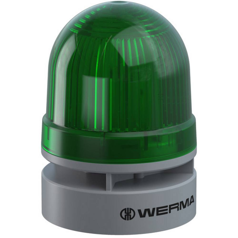 Werma Signaltechnik signalna svjetiljka Mini TwinFLASH Combi 24VAC/DC GN zelena 24 V/DC 95 dB