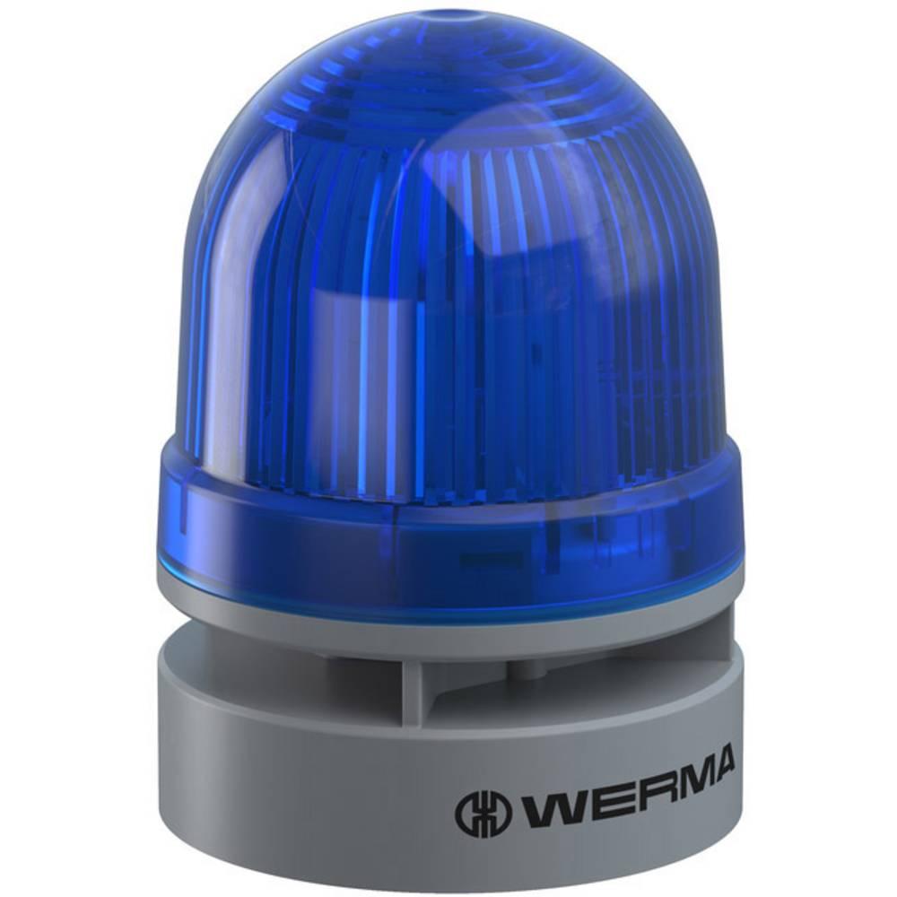 Werma Signaltechnik signalna svjetiljka Mini TwinLIGHT Combi 24VAC/DC BU plava boja 24 V/DC 95 dB