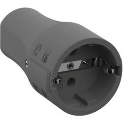 spojka sa zaštitnim kontaktom polipropilen 250 V siva ip20 Bachmann 960.303