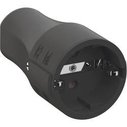spojka sa zaštitnim kontaktom polipropilen 250 V crna ip20 Bachmann 960.103
