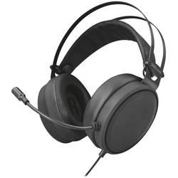 slušalice usb sa vrpcom, stereo Trust LANO preko ušiju crna