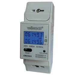 Velleman EMDIN02 naprava za merjenje stroškov energijske porabe