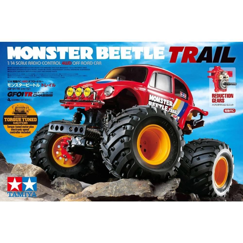 Tamiya Monster Beetle Trail s ščetkami 1:14 RC Modeli avtomobilov Elektro Monster Truck Pogon na vsa kolesa (4WD) Komplet za ses
